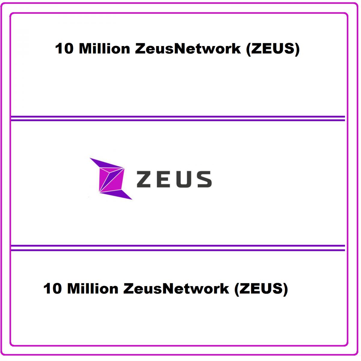 Zeus Network 10 Million ZEUS