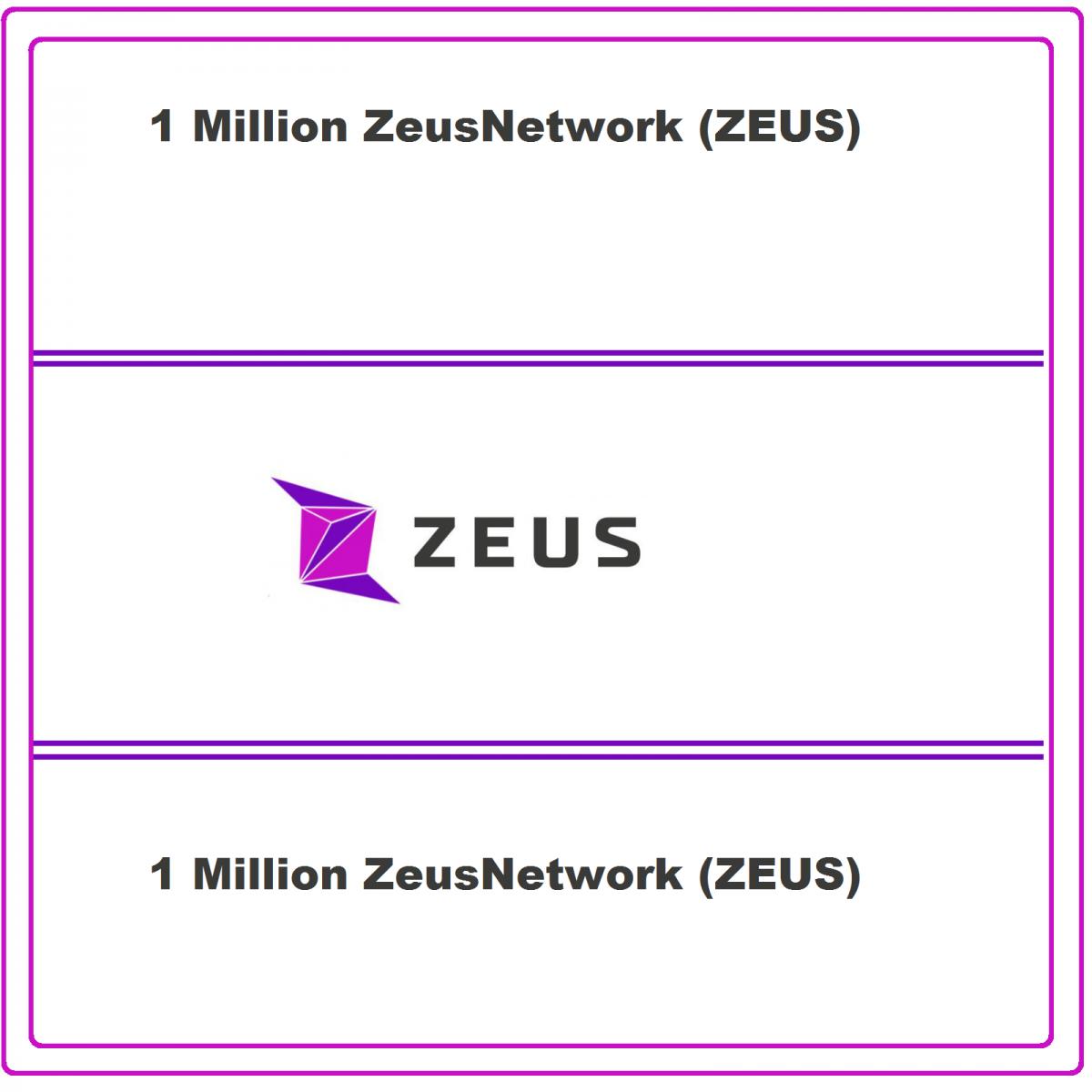 Zeus Network 1 Million ZEUS