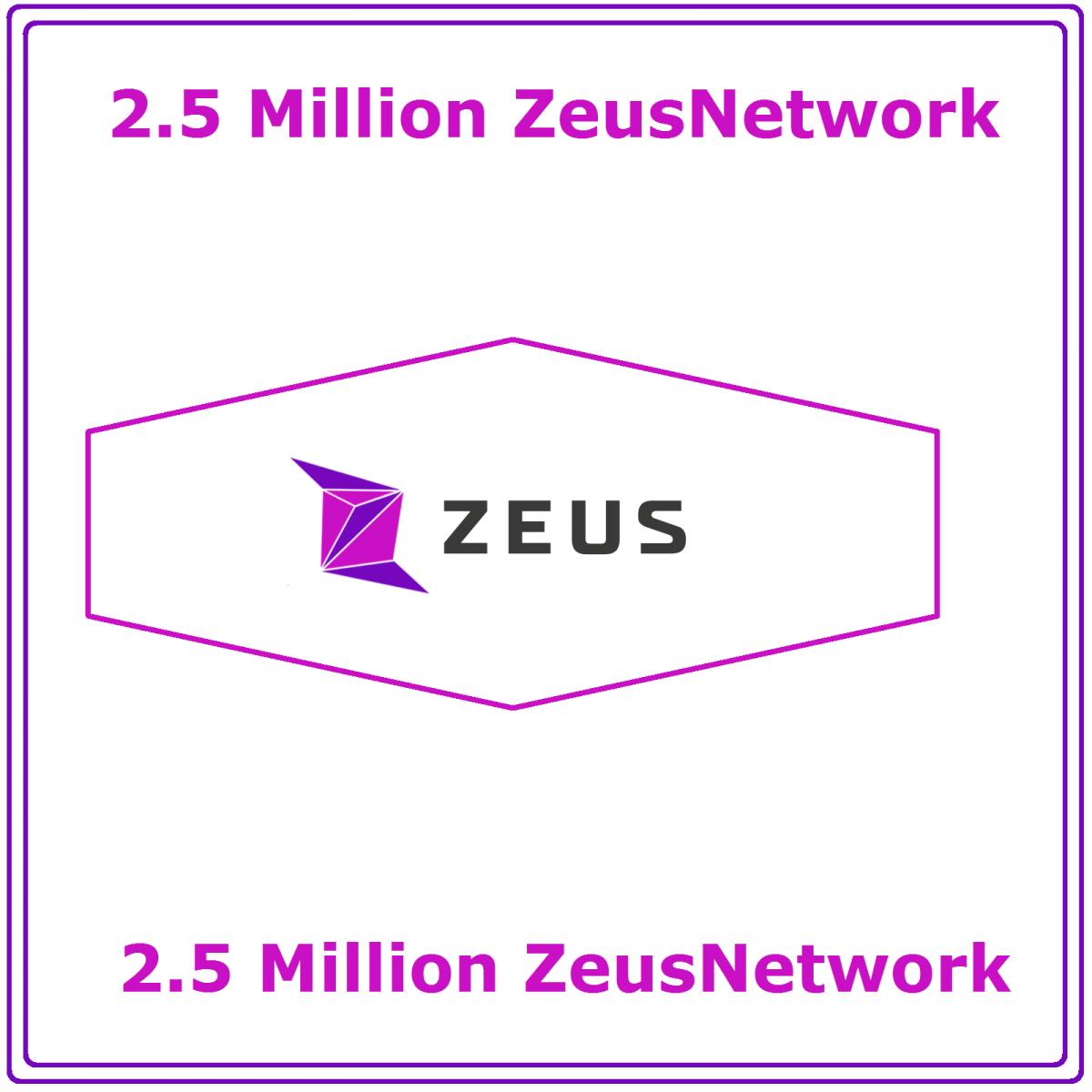 Zeus Network 2.5 Million ZEUS