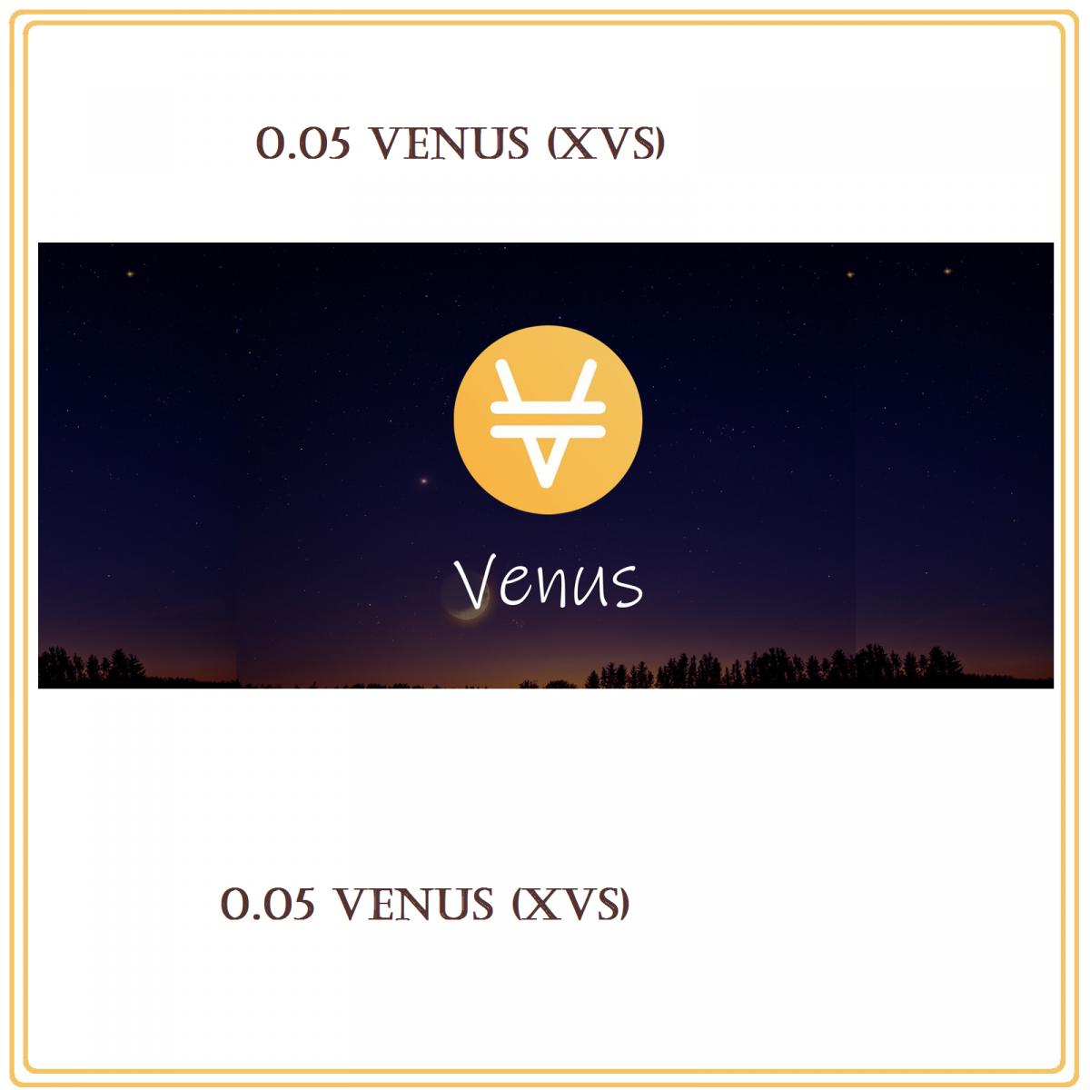 0.05 Venus (XVS) Mining Contract