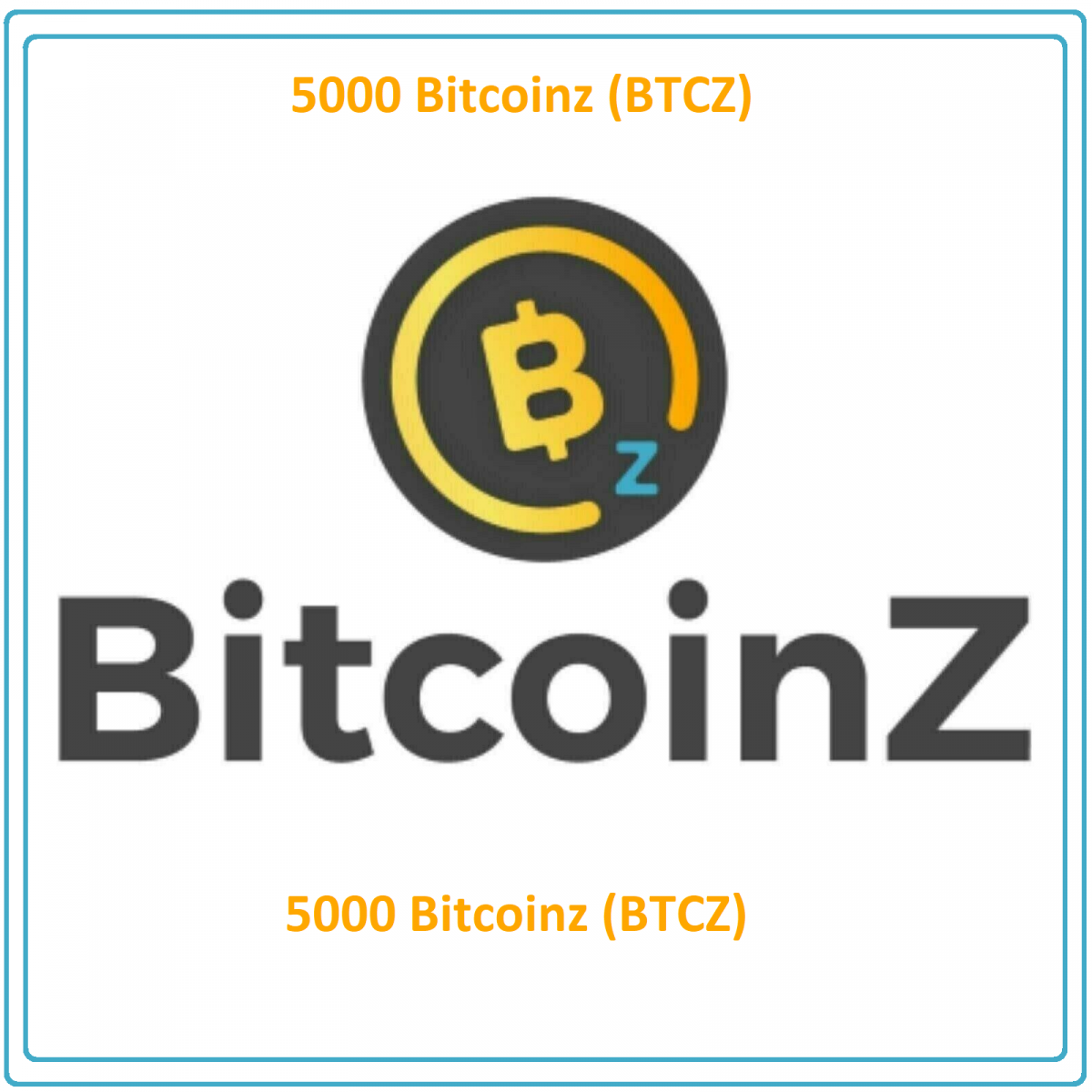 5000 BitcoinZ (BTCZ) Mining Contract