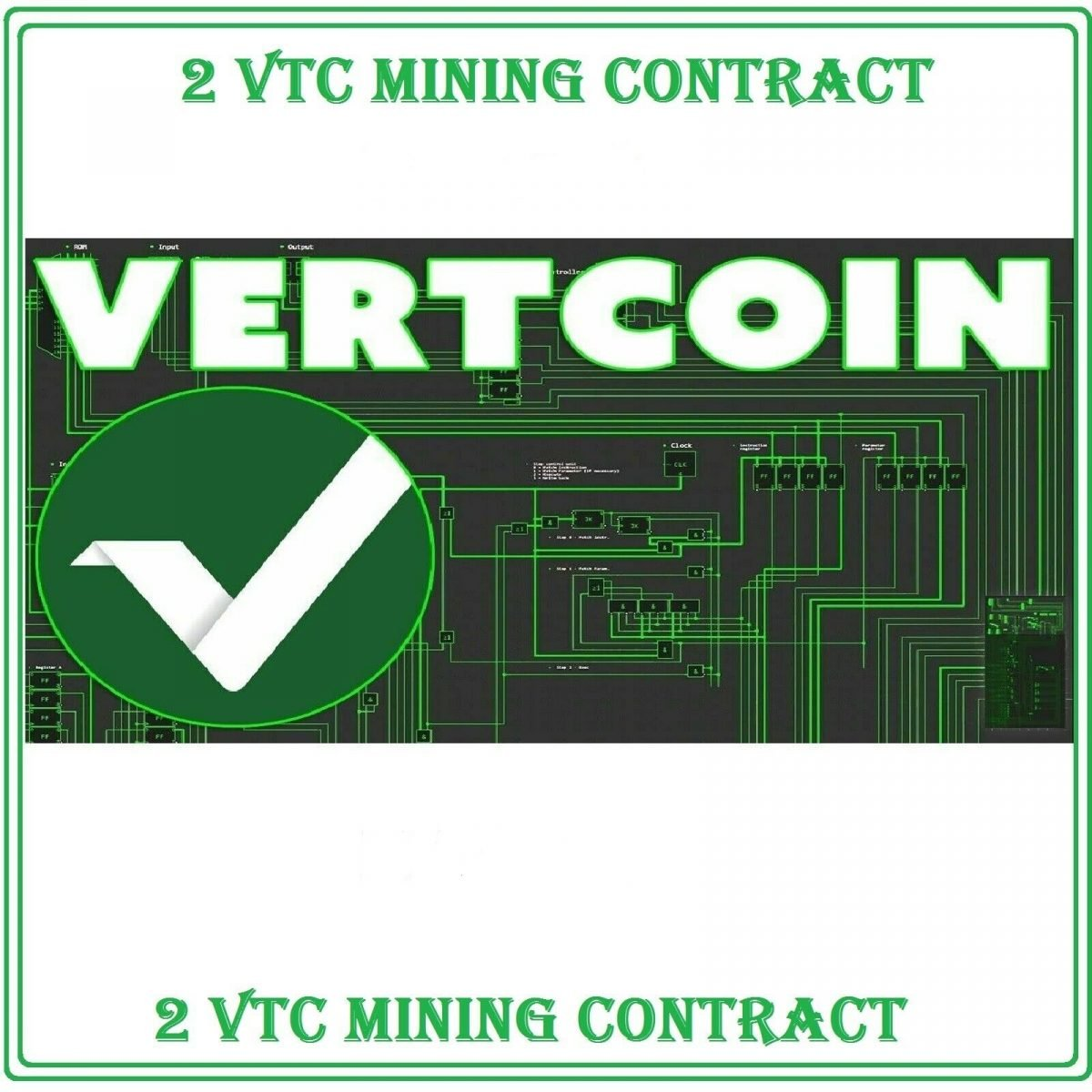 2 Vertcoin (VTC) Mining Contract